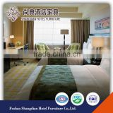 Guangdong solid teak wood hotel bedroom furniture double deck bed set