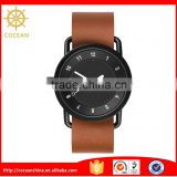 Promotion New Design Brown Interchangesble Leather Strap Men Watches
