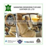 brown artificial wool car seat cushions