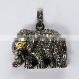 Little Elephant !! Ruby 925 Sterling Silver Pendant, Oxidized Silver Jewelry, Indian Fashion Jewelry Supplier
