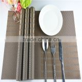 High Quality Rectangle PVC Dining Room Placemats for Table Stain-resistant Kitchen mats Simple Style Eat Mat Vinyl pad