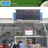 New products 2015 P12.5 dip stadium perimeter outdoor full color football stadium led board