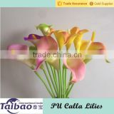 Alibaba gold supplier factory direct wedding PU calla lily bouquet