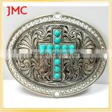 Cross belt buckle with Rhinestones