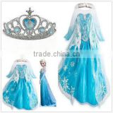 New Kids Girls Costume Cosplay Party Princess Dress Frozen Elsa Anna Fancy wholesale BC275