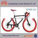 Customized color 700c Aluminum 21 speed fixie bike,disc brake road bike, 2016 New design attractive bicycle/cycle/bike/bikes