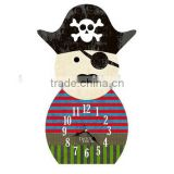 New design pirate style wooden wall clock for home deco                                                                         Quality Choice