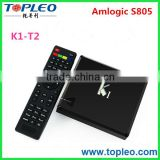 K1 Android 4.4 TV Box+DVB S2 S805 Quad Core 1G/8G Wifi XBMC KODI Free Movies K1+T2 Smart Andorid TV Box