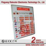 Electronic LED digital currency exchange rate board display