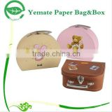 new arrival wholesale eco-freindly decorative paper cardbaord baby shoe box packaging suitcase