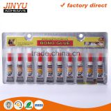 JY Over 10 years Manufacturer Experience 100%Cyanoacrylate quick bond adhesive super glue