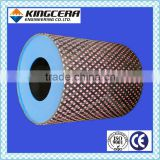 Competitive price mining pulley square acid&slip&wear resistant alumina ceramic lagging pulley