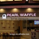 led logo sign of High quality new business outdoor,rectangle Shape and Aluminium/Acrylic/LED Material light letters