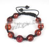 Red Agate Other Shape Red Hamsa String Bracelet