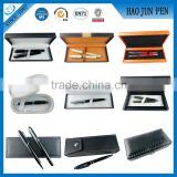 High Quality Plastic Wood Paper Leather Promotional Pen Box Best gift Set                                                                                         Most Popular