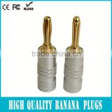 Double banana plug 24 Carat Gold-Plated in Red / Black Set