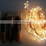 Hot sale!!! 3AA Warm white STAR Shape string lights