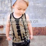 (CT205#GREY)OEM service baby wear boys outfit sets knitted comfortable t shirt and black leather short 2pc sets