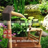 [Wanhong natural decorative gardening Manually bamboo water / frightened deer / garden courtyard bamboo products can be customiz