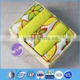 china supplier wholesale custom printed yarn-dyed cotton cleaning cloth set