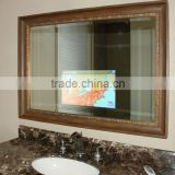 LED Mirror TV for starred hotel waterproof bathroom tv mirror factory supply                                                                                         Most Popular