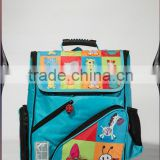 Kids sky blue school bags backpack with cartoon
