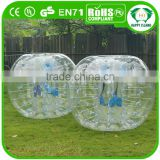 HI CE Promotional bubble balls for football,inflatable soccer bubble ,body zorb ball
