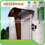 Popular design! outdoor polycarbonate aluminum awnings lowes with side panel protect door very well