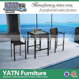 Vintage bar stools with square bar table rattan furniture bar settings
