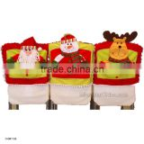 Christmas Santa Claus Snowman Elk Red Hat Chair Cover Christmas Dinner Table Party Decor Indoor Christmas Decoration
