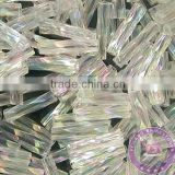 Feilang distorted spiral hollow tube glass beads