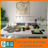 Chinese slate square dinner plate