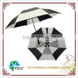 Top quality fiberglass customized double canopy advertising golf umbrella