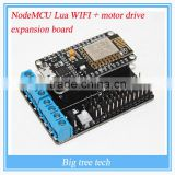 NodeMCU Lua WiFi + ESP motor drive expansion board kit ESP12E Lua WiFi smart car E201+E206