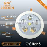 CRI>80 adjustable 50W led ceiling light fixture, replace 150W metal halide,with bridgelux chip
