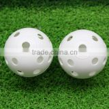 Wholesale golf plastic practice balls with hole