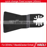 45mm quick change flexible scraper for removing soft carpet adhesive residues suitable the oscillating multi tool
