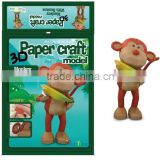 3D Monkey paper craft for sale monkey with banana model figurines