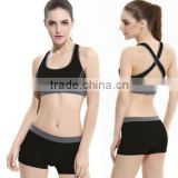 Quick-dry Sports bra set shakeproof ladies running fitness vest wireless running bra yoga sport bra sexy Womens Tracksuits set