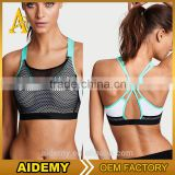 high quality women sports wear wholesale beautiful bra sexy bra design women mesh sports bra