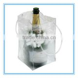 wine cooler plastic bag, clear pvc wine cooler plastic bag, bottle wine cooler plastic bag