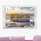 Beautiful Scenery PVC 3D Sticker Para Pared De Bebe
