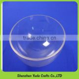 Half-round crystal clear hollow ball, semicircular acrylic dust cover