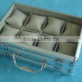 Bronze watch case,watch case gift with flannelette inner,aluminum kids watch box