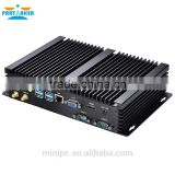 Fanless Small PC Computer ITX Office Station with Intel i5 processor 2 COM 4 USB3.0 8G RAM 512G SSD 1TB HDD Fanless PC