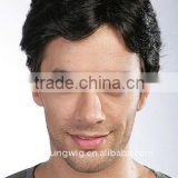 Wholesale factory mens hair wigs, synthetic toupee , hair replacement