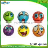 High quality children toy balls,emoticon Soft anti stress ball,face PU foam Ball