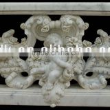 Natural Carved Stone Baluster Handrail Stairs