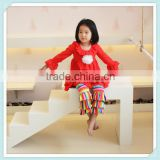 Children's Apparel Boutique Persnickety Clothing Long Sleeve Full Dress Stripe Rainbow Color Pants Fall Sets With Ruffle Flower