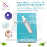 Beauty massage blue light and ion eye skin tightening eye bag remove eye massage pen for home use